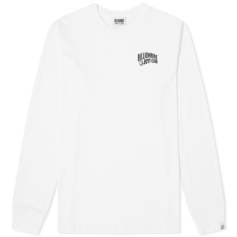 ビリオネアボーイズクラブ Billionaire Boys Club メンズ 長袖Tシャツ ロゴTシャツ トップス【Long Sleeve Small Arch Logo Tee】White