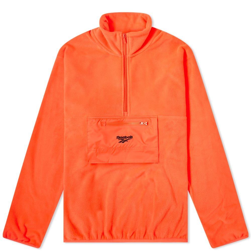 リーボック Reebok メンズ フリース トップス【Half Zip Polar Fleece Sweat】Orange