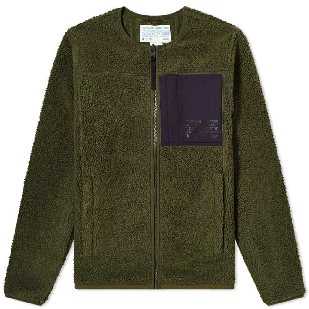 ティンバーランド Timberland メンズ フリース トップス【x Wood Wood Fleece Jacket】Forest Green