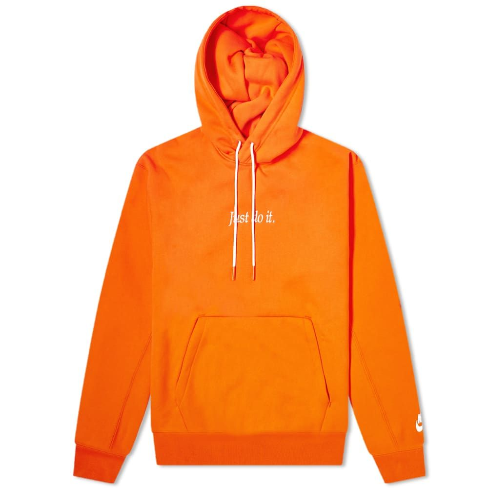 ナイキ Nike メンズ フリース トップス【Just Do It Fleece Popover Hoody】Team Orange/White