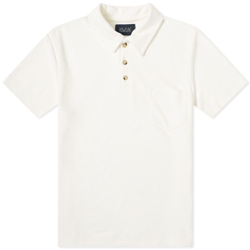 ハウリン Howlin by Morrison メンズ ポロシャツ トップス【Howlin' Mr Fantasy Towelling Polo】Ecru