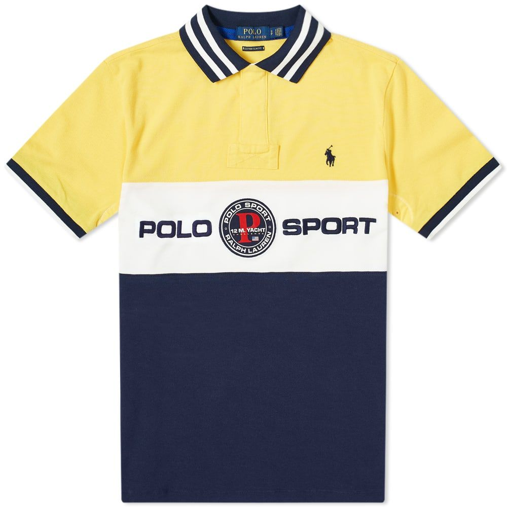 ポロスポーツ Polo Sport メンズ ポロシャツ トップス【Polo Ralph Lauren Logo Polo Shirt】Chrome Yellow Multi