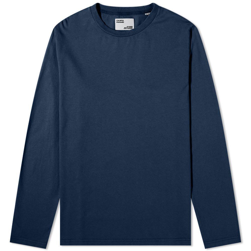 カラフルスタンダード Colorful Standard メンズ 長袖Tシャツ トップス【Long Sleeve Classic Organic Tee】Navy Blue