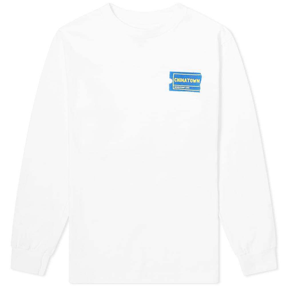 チャイナタウンマケット Chinatown Market メンズ 長袖Tシャツ トップス【Long Sleeve Membership Tee】White