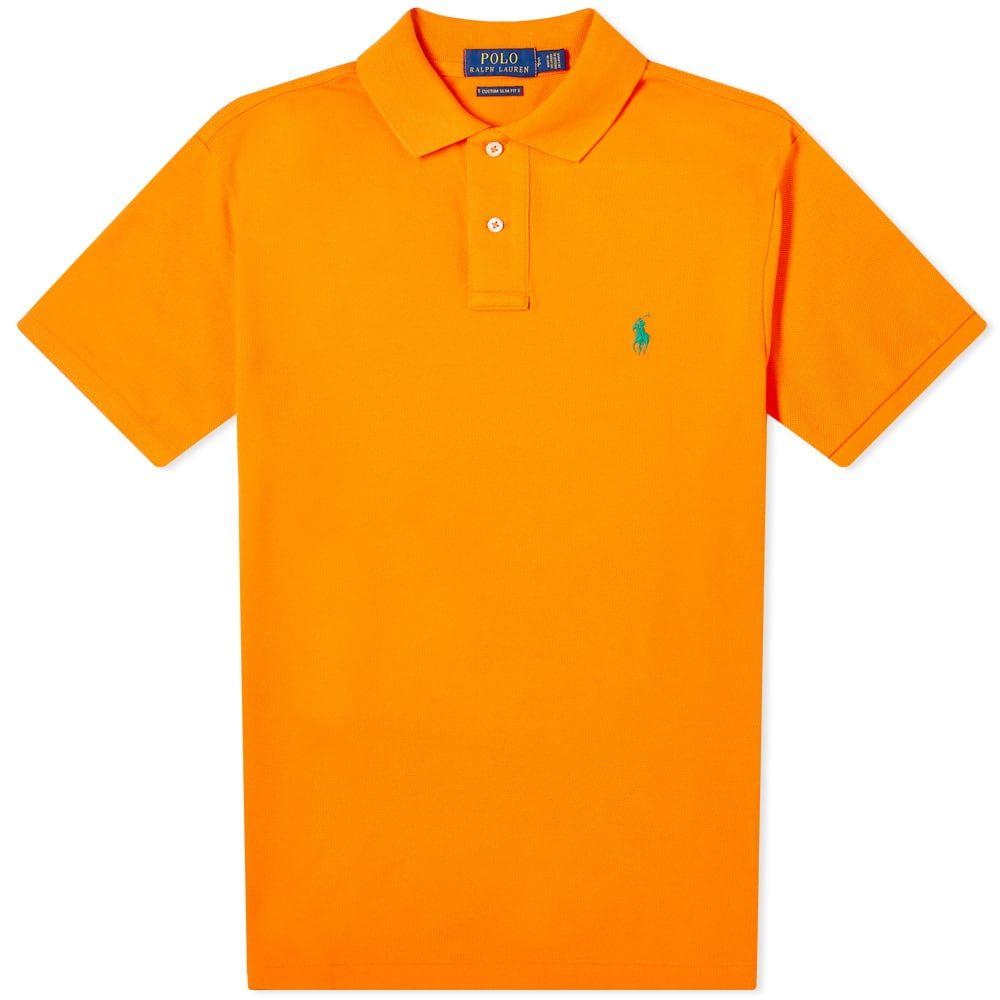 ラルフ ローレン Polo Ralph Lauren メンズ ポロシャツ トップス【Slim Fit Polo】Bright Signal Orange