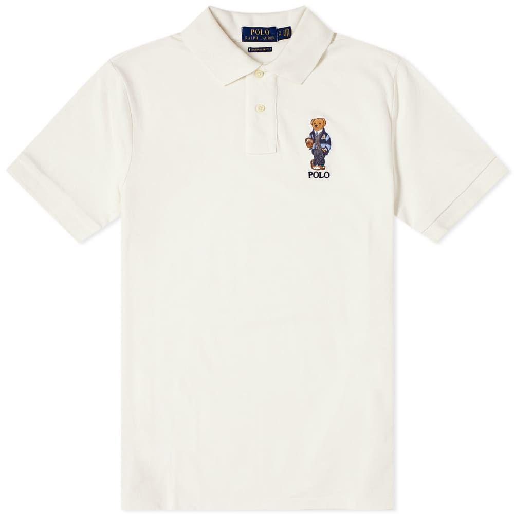ラルフ ローレン Polo Ralph Lauren メンズ ポロシャツ トップス【Preppy Bear Polo】Deckwash White