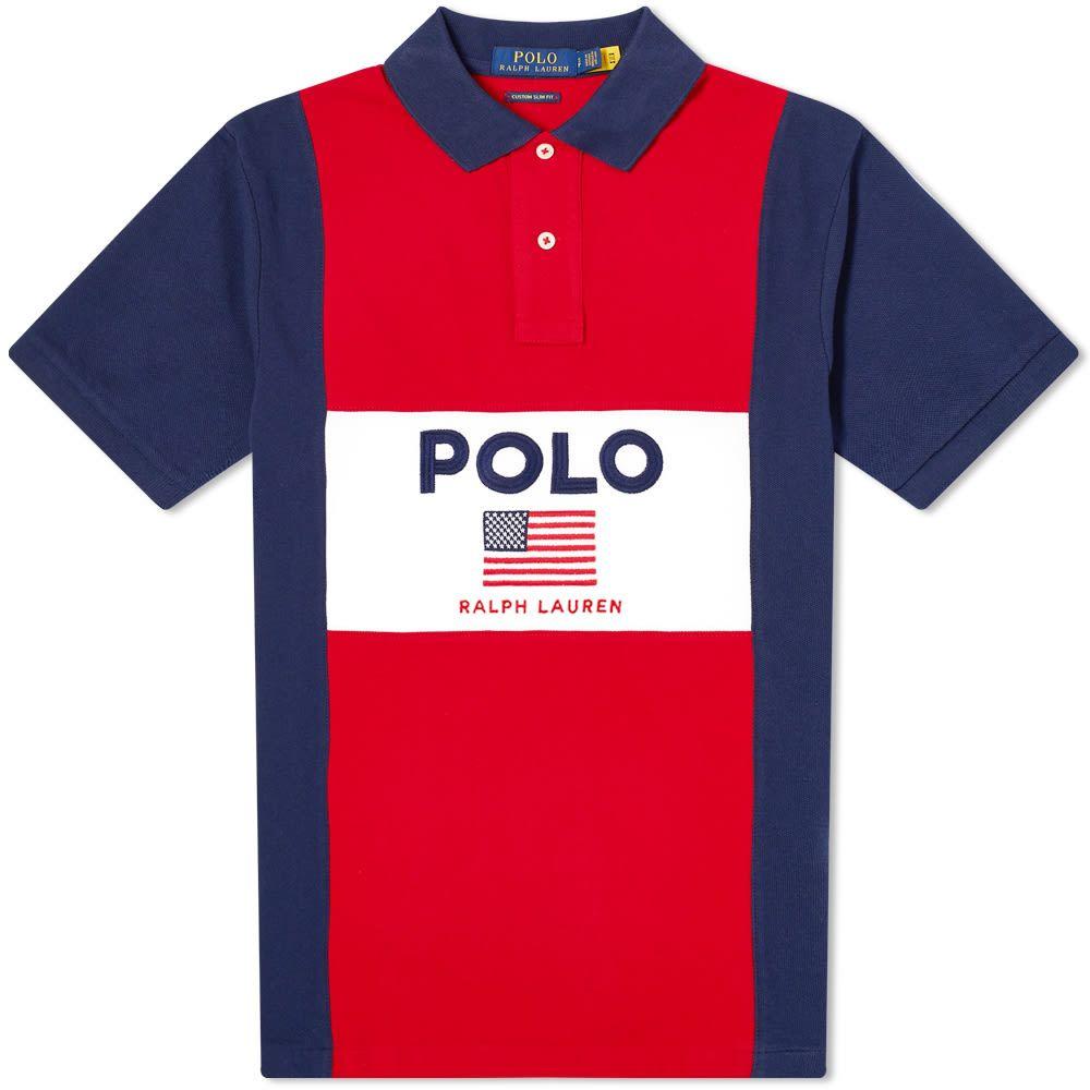 ラルフ ローレン Polo Ralph Lauren メンズ ポロシャツ トップス【Flag Logo Polo】Red Multi