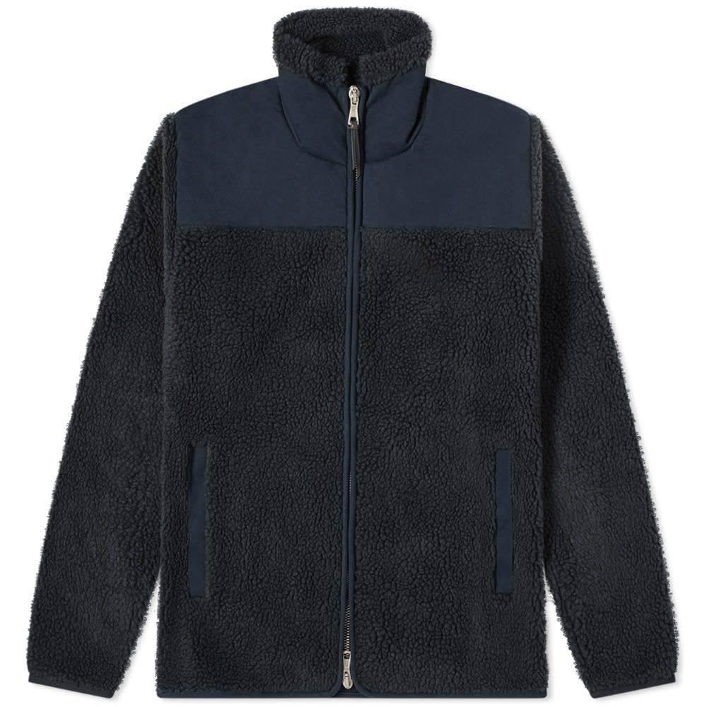 アルバム Albam メンズ フリース トップス【Combat Fleece Jacket】Navy