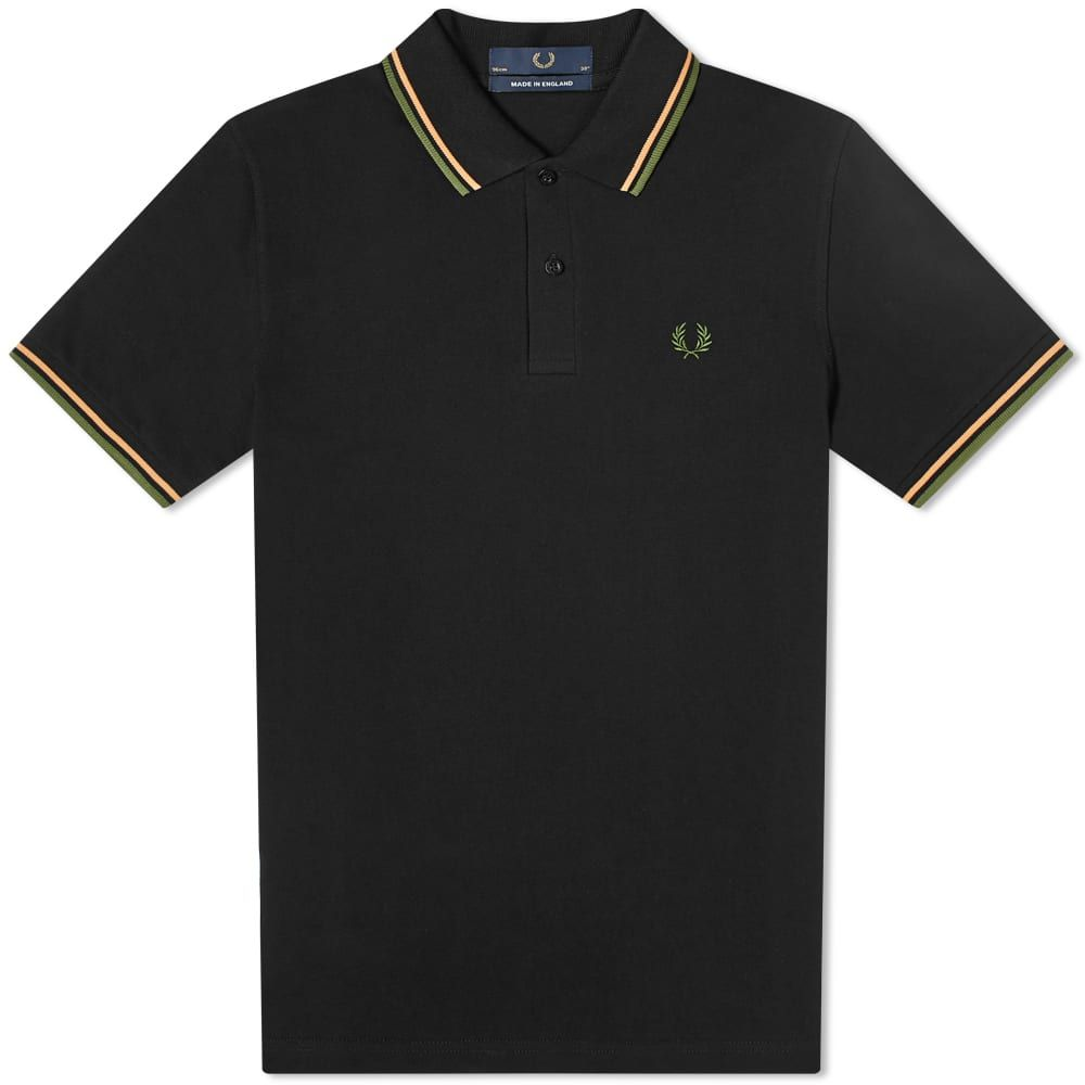 フレッドペリー Fred Perry Laurel Wreath メンズ ポロシャツ トップス【Fred Perry Reissues Original Twin Tipped Polo】Black/Nectar/Olive