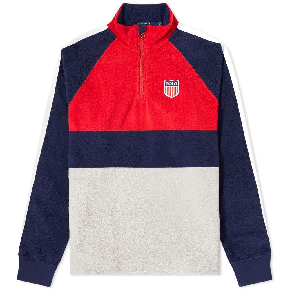 ラルフ ローレン Polo Ralph Lauren メンズ フリース ハーフジップ トップス【Polar 1967 Quarter Zip Fleece Jacket】Red Multi