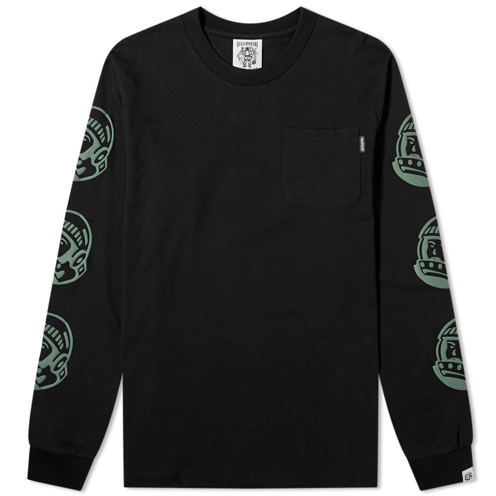 ビリオネアボーイズクラブ Billionaire Boys Club メンズ 長袖Tシャツ トップス【Long Sleeve Astro Print Tee】Black