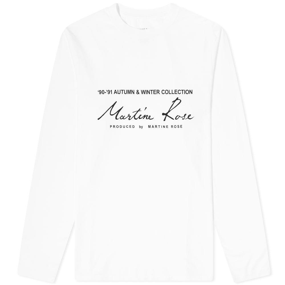 マーティン ローズ Martine Rose メンズ 長袖Tシャツ ロゴTシャツ トップス【Long Sleeve Logo Print Tee】White