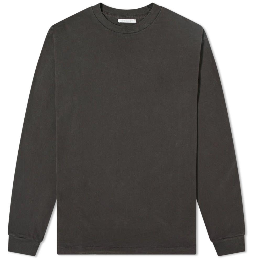ジョン エリオット John Elliott メンズ 長袖Tシャツ トップス【Long Sleeve University Tee】Carbon