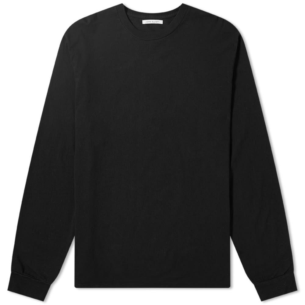 ジョン エリオット John Elliott メンズ 長袖Tシャツ トップス【Long Sleeve University Tee】Black