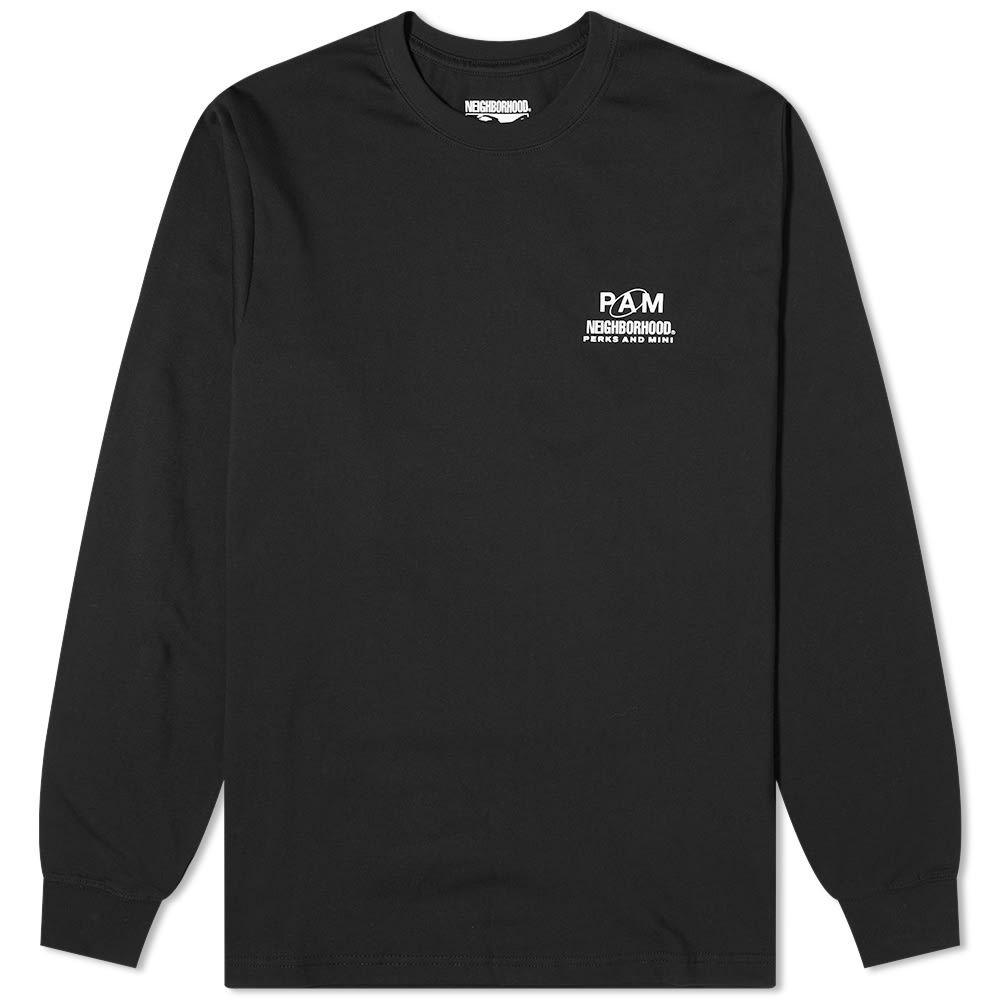 ネイバーフッド Neighborhood メンズ 長袖Tシャツ トップス【x P.A.M Long Sleeve Tee】Black