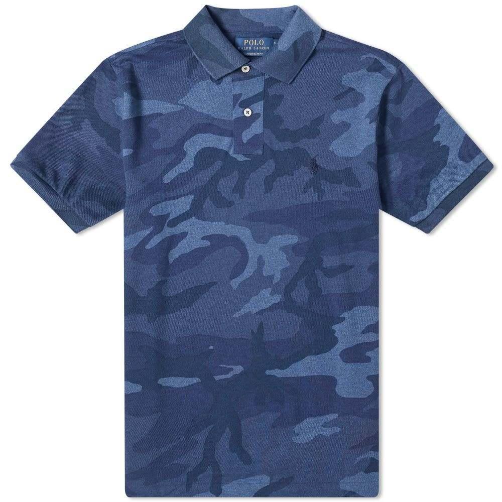 ラルフ ローレン Polo Ralph Lauren メンズ ポロシャツ トップス【Camo Polo】Blue Heather