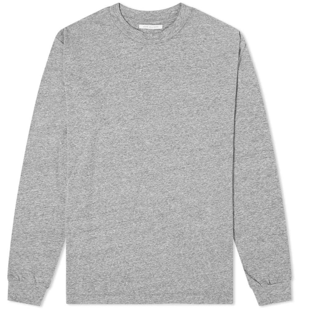 ジョン エリオット John Elliott メンズ 長袖Tシャツ トップス【Long Sleeve University Tee】Grey