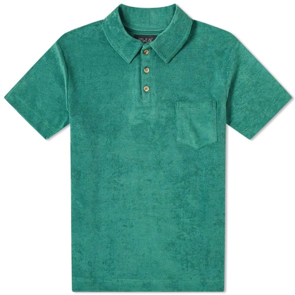 ハウリン Howlin by Morrison メンズ ポロシャツ トップス【Howlin' Mr Fantasy Towelling Polo】Green