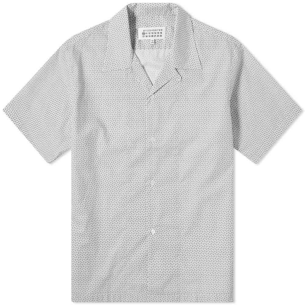 メゾン マルジェラ Maison Margiela メンズ 半袖シャツ トップス【10 Micro Paisley Vacation Shirt】White/Black