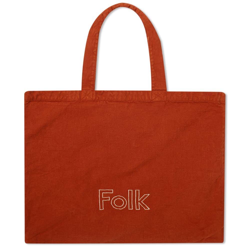 フォーク Folk メンズ トートバッグ バッグ【Logo Tote】Cinnamon