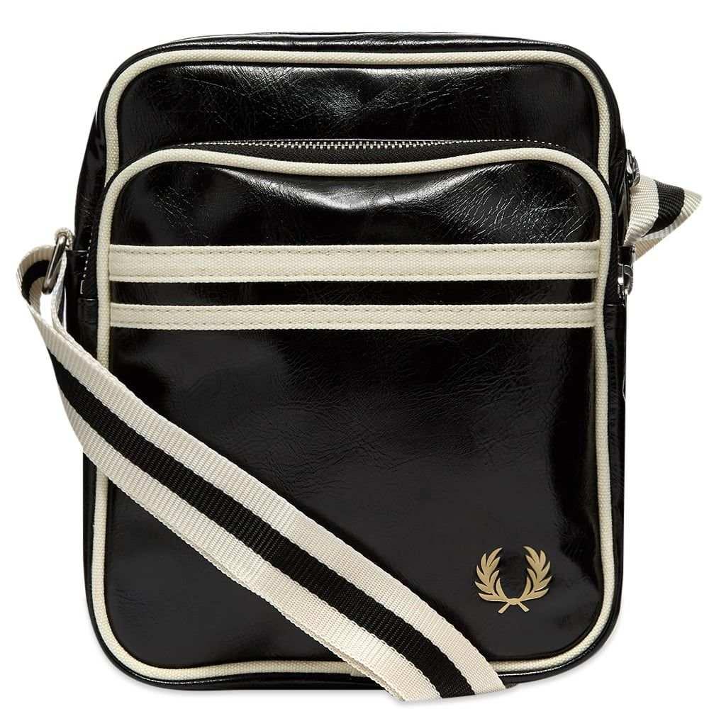 フレッドペリー Fred Perry Authentic メンズ ショルダーバッグ バッグ【Classic Side Bag】Black/Ecru