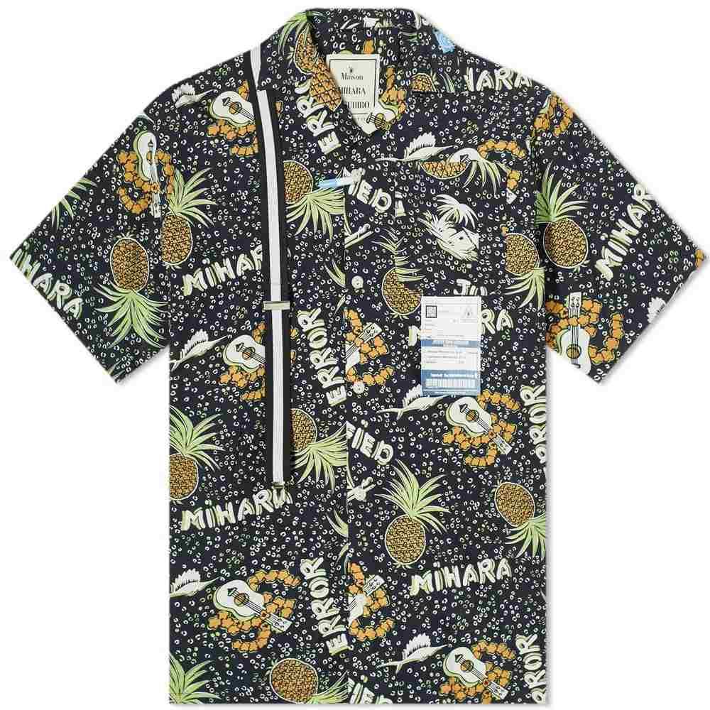 【送料無料(一部地域を除く)】 ミハラ ヤスヒロ Maison Maison アロハシャツ MIHARA YASUHIRO メンズ 半袖シャツ YASUHIRO アロハシャツ トップス【Hawaiian Shirt】Black:フェルマート, YOU通販:c13f09dd --- nagari.or.id