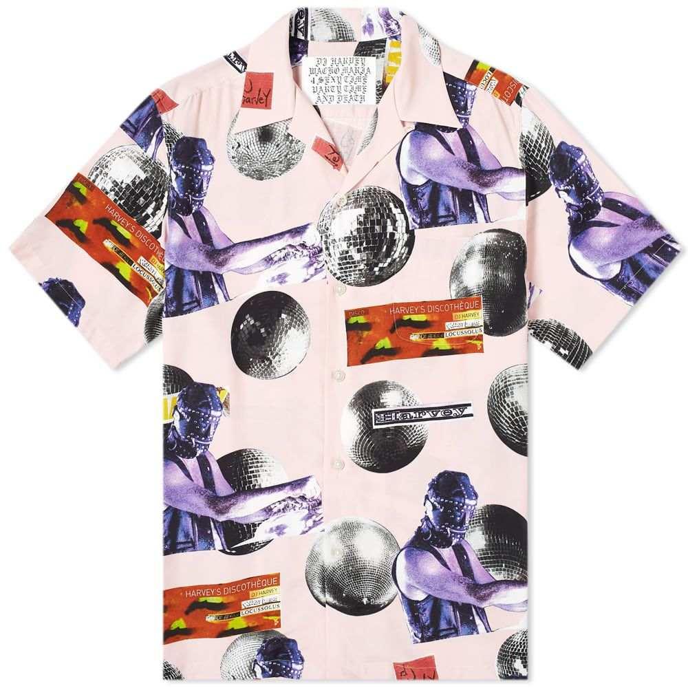 ワコマリア Wacko Maria メンズ 半袖シャツ アロハシャツ トップス【x DJ Harvey Hawaiian Shirt】Pink