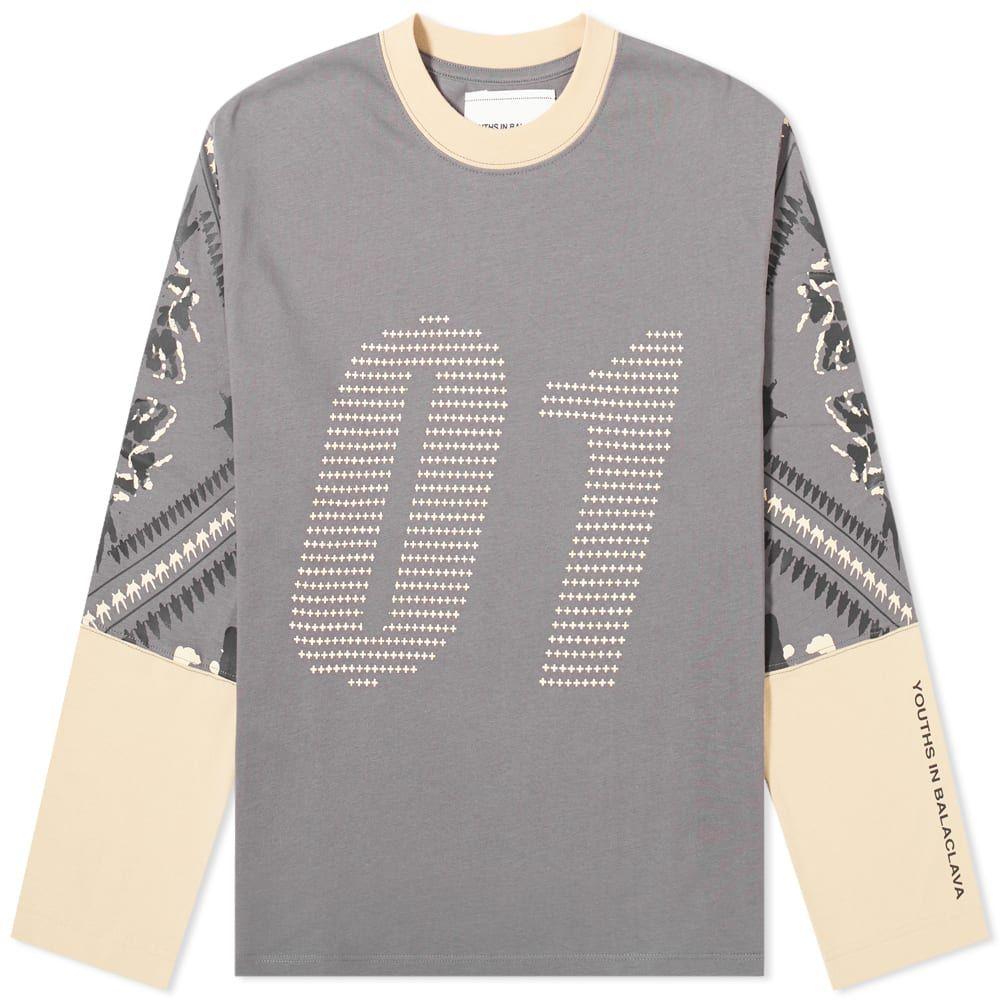 ユース イン バラクラバ Youths in Balaclava メンズ 長袖Tシャツ トップス【01 Tee】Grey