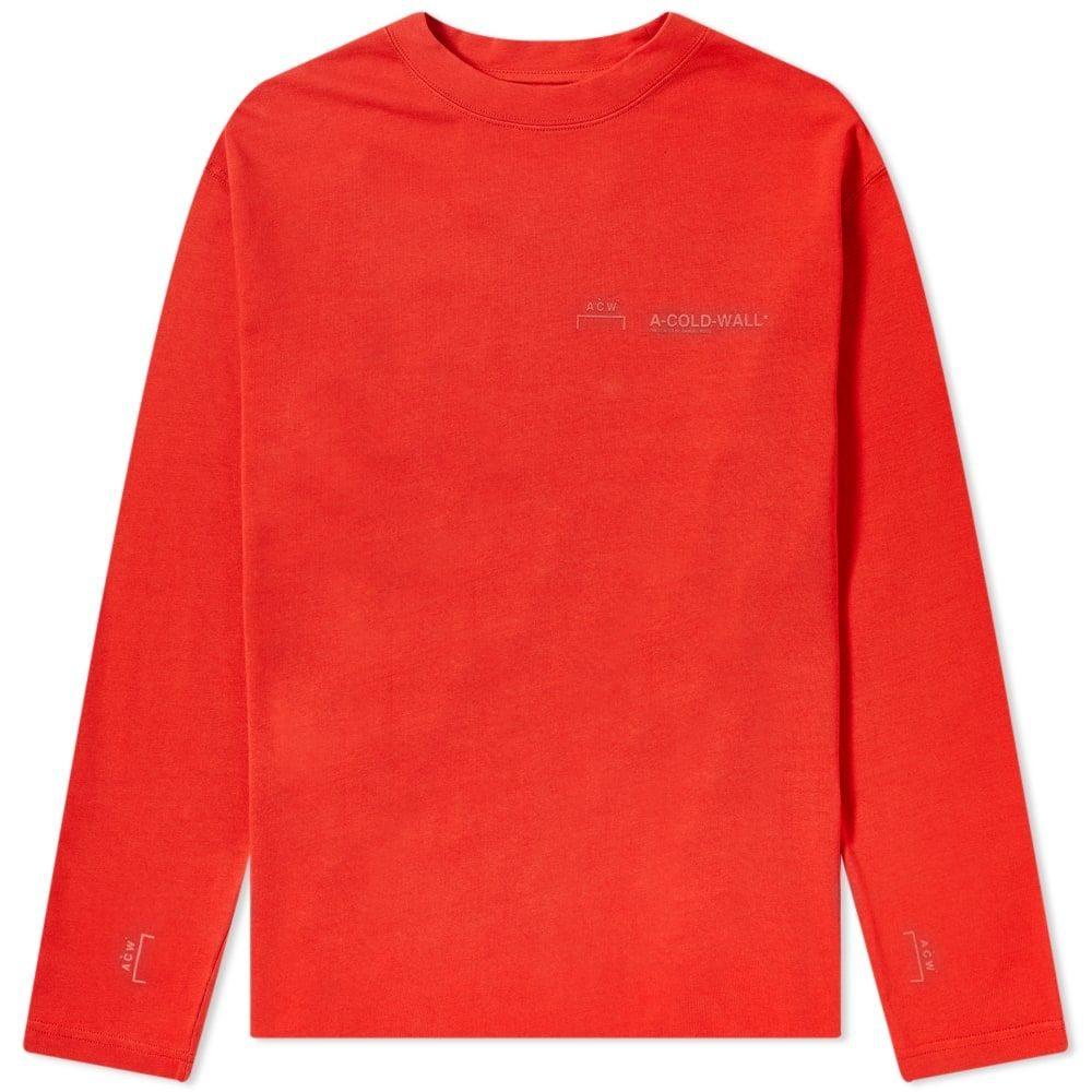 アコールドウォール A-COLD-WALL* メンズ 長袖Tシャツ ロゴTシャツ トップス【Long Sleeve Logo Tee】Red Clay