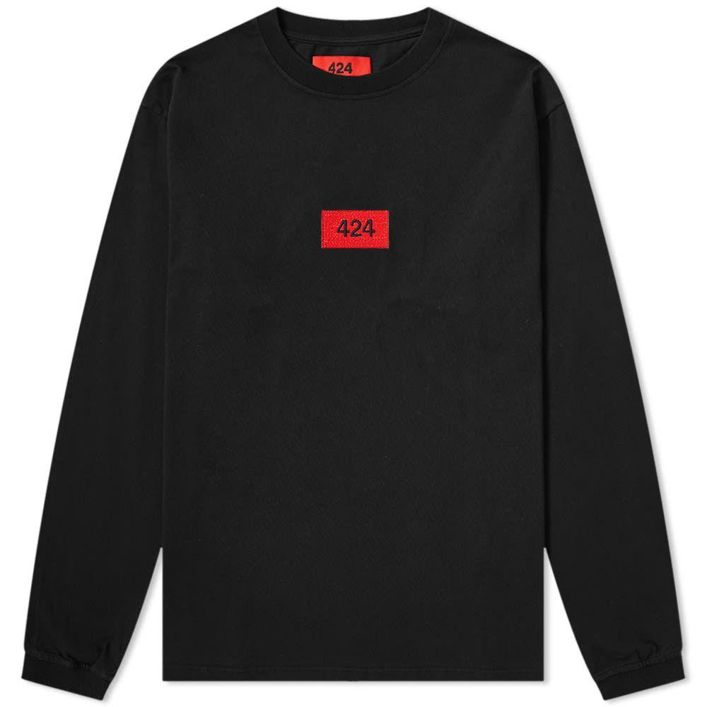 フォートゥーフォー 424 メンズ 長袖Tシャツ ロゴTシャツ トップス【Long Sleeve Box Logo Tee】Black