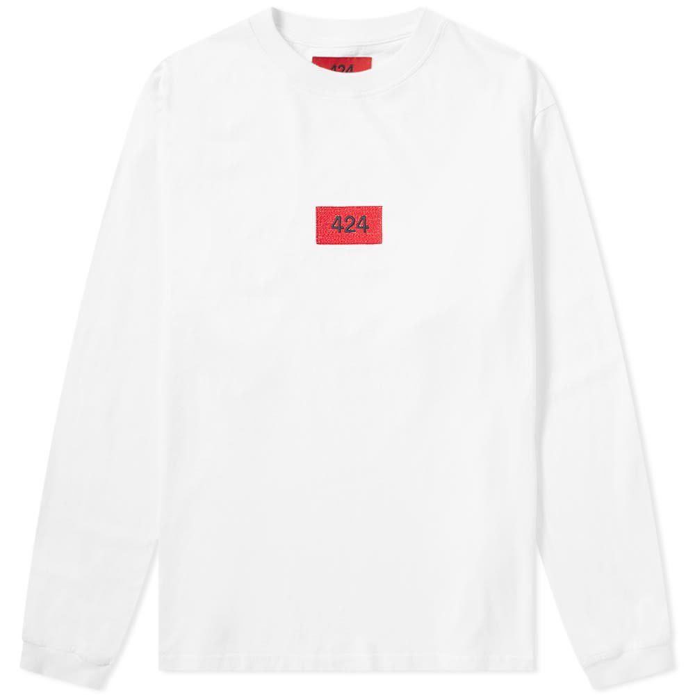 フォートゥーフォー 424 メンズ 長袖Tシャツ ロゴTシャツ トップス【Long Sleeve Box Logo Tee】White