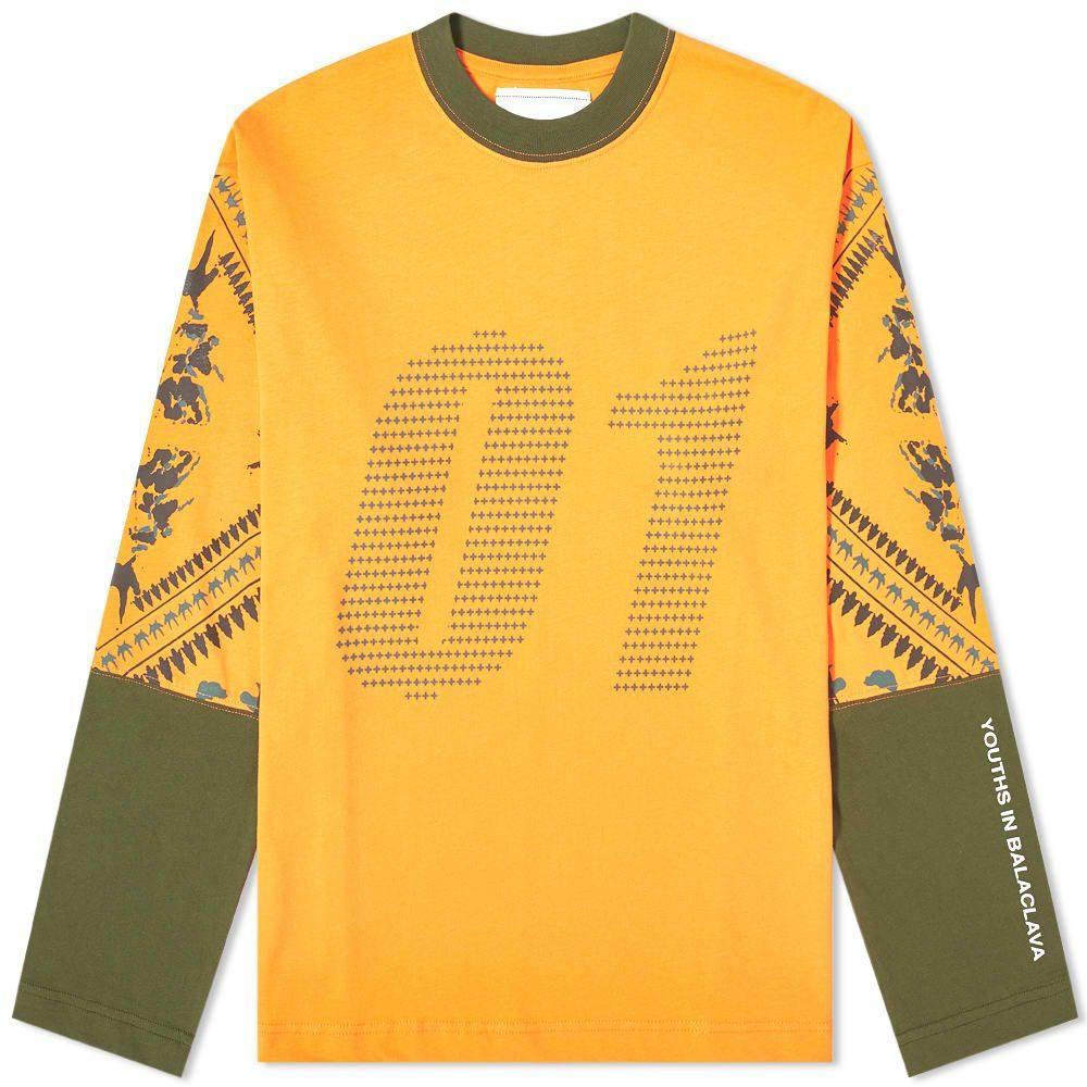 ユース イン バラクラバ Youths in Balaclava メンズ 長袖Tシャツ トップス【01 Tee】Orange