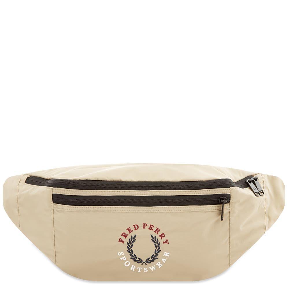 フレッドペリー Fred Perry Authentic メンズ ボディバッグ・ウエストポーチ バッグ【Laurel Logo Waist Bag】Stone