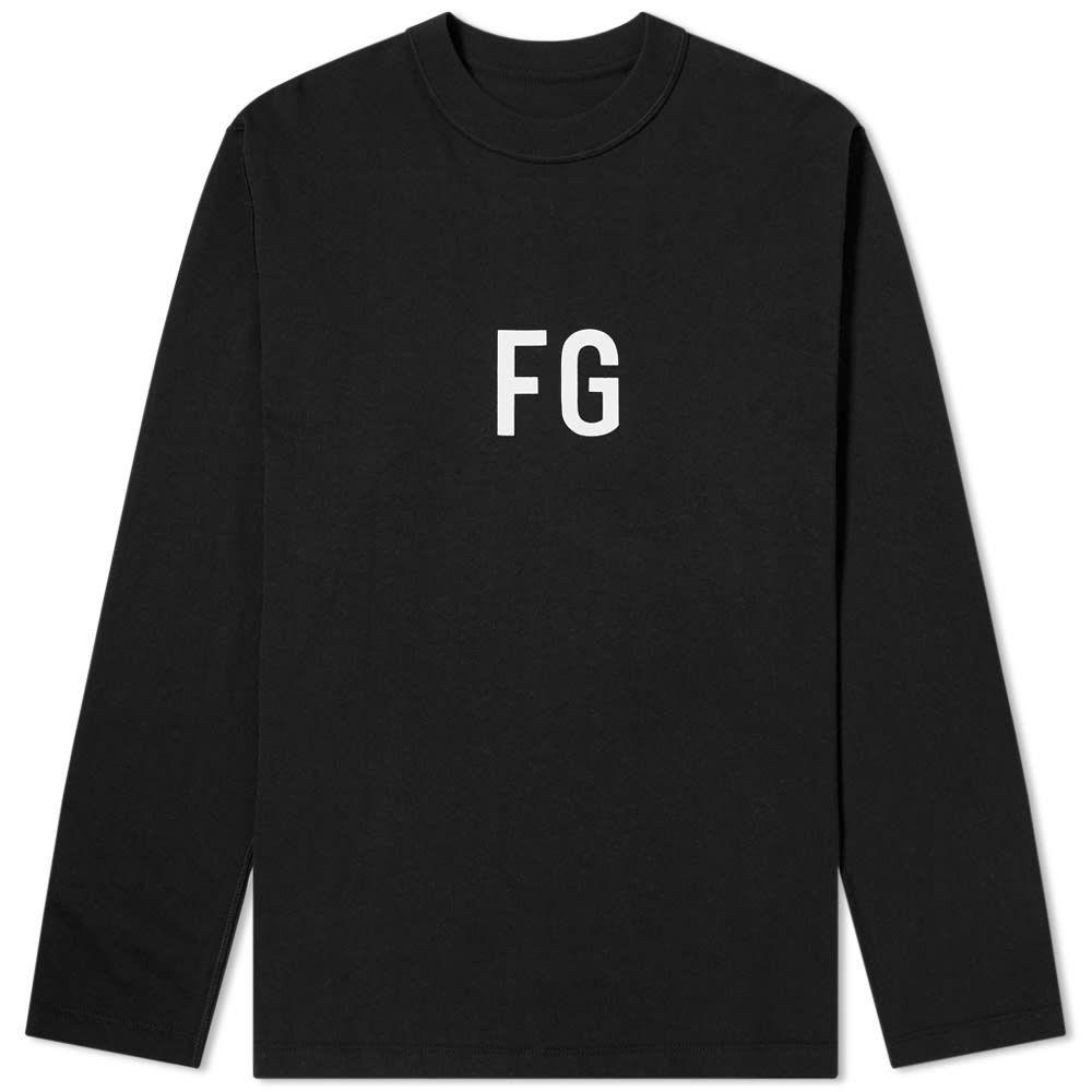 フィアオブゴッド Fear Of God メンズ 長袖Tシャツ トップス【Long Sleeve FG Tee】Vintage Black