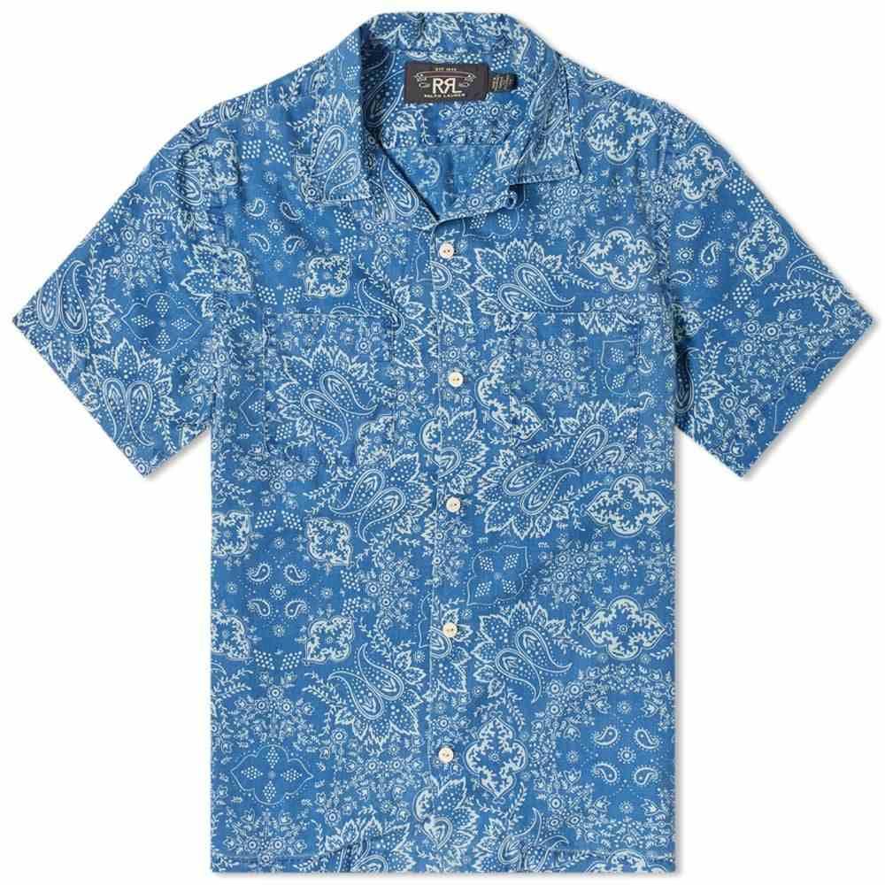 RRL メンズ 半袖シャツ トップス【Paisley Indigo Printed Vacation Shirt】Indigo