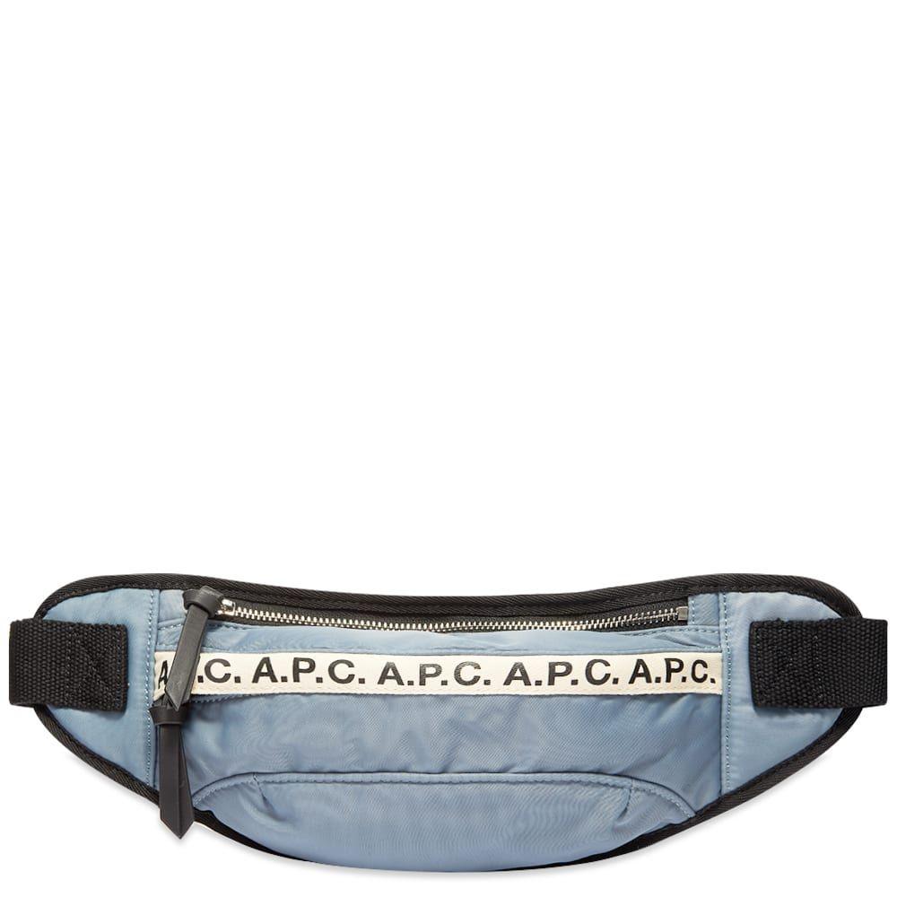 アーペーセー A.P.C. メンズ ボディバッグ・ウエストポーチ バッグ【Repeat Logo Waist Bag】Grey