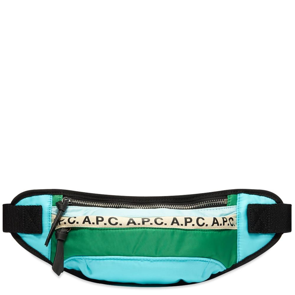 アーペーセー A.P.C. メンズ ボディバッグ・ウエストポーチ バッグ【Repeat Logo Waist Bag】Green Multi