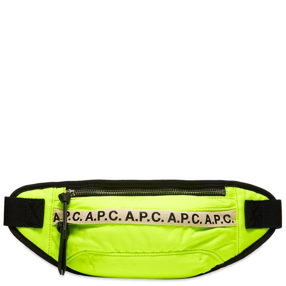 アーペーセー A.P.C. メンズ ボディバッグ・ウエストポーチ バッグ【Tape Logo Waist Bag】Florescent Yellow