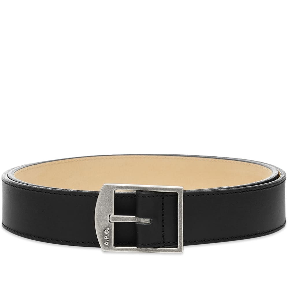 アーペーセー A.P.C. メンズ ベルト 【Cedric Leather Buckle Logo Belt】Black