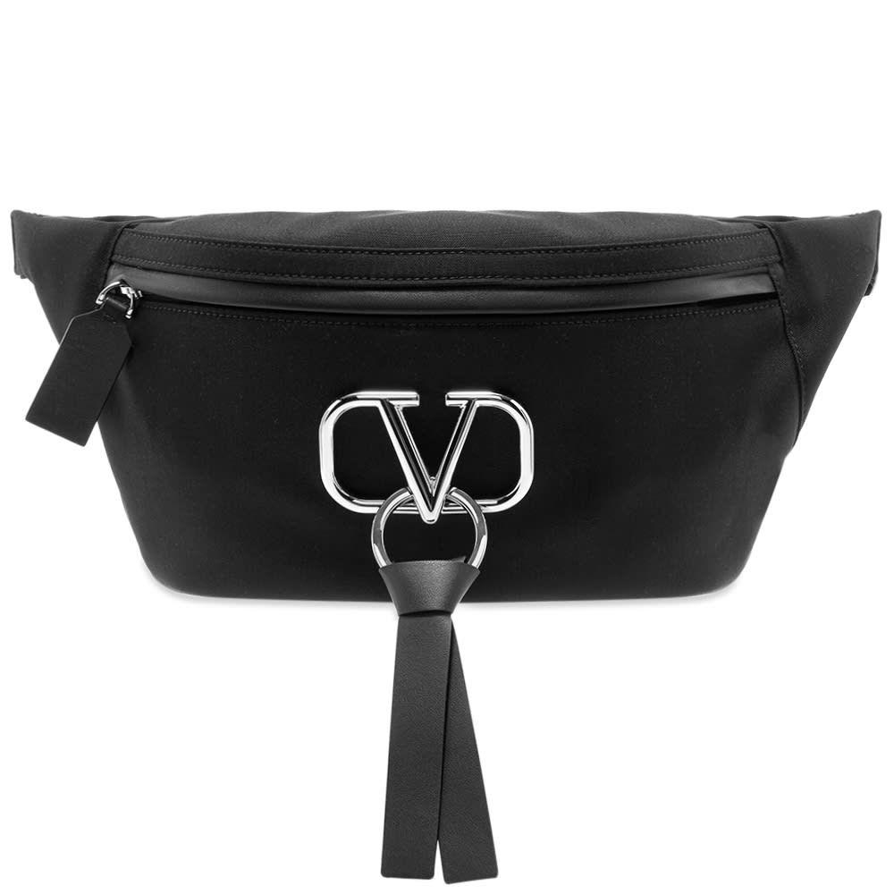 ヴァレンティノ Valentino メンズ ボディバッグ・ウエストポーチ バッグ【Go Logo Ribbon Nylon Waist Pack】Black
