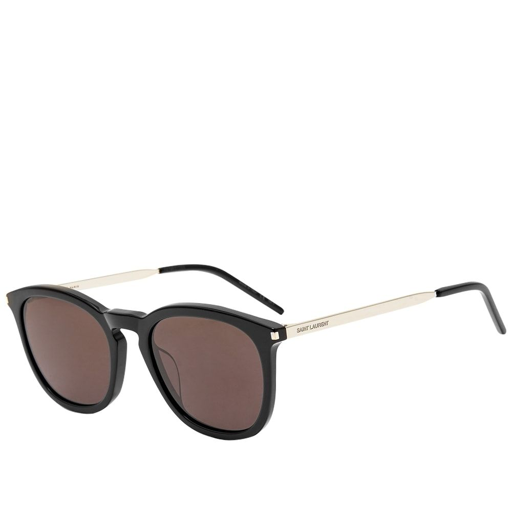 イヴ サンローラン Saint Laurent メンズ メガネ・サングラス 【SL 360 Sunglasses】Black/Silver/Black