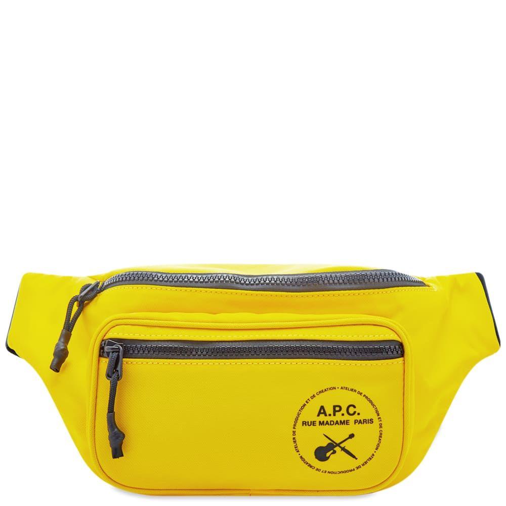 アーペーセー A.P.C. メンズ ボディバッグ・ウエストポーチ バッグ【Guitar Logo Waist Bag】Yellow