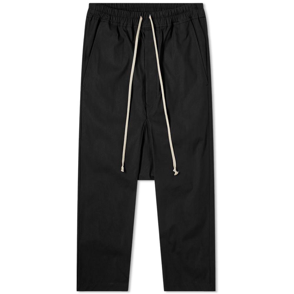 リック オウエンス Rick Owens メンズ クロップド ボトムス・パンツ【DRKSHDW Drawstring Cropped Pant】Black