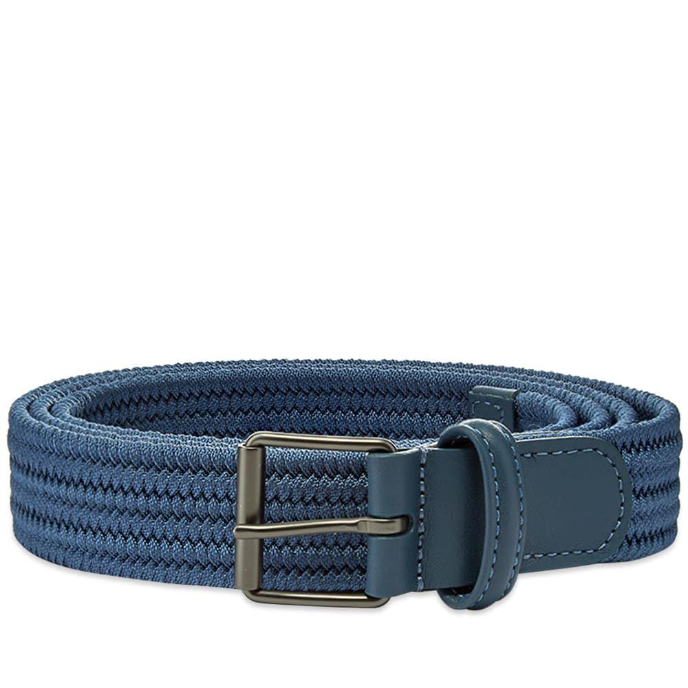 アンダーソンズ Andersons メンズ ベルト 【Anderson's Slim Woven Textile Belt】Navy Blue