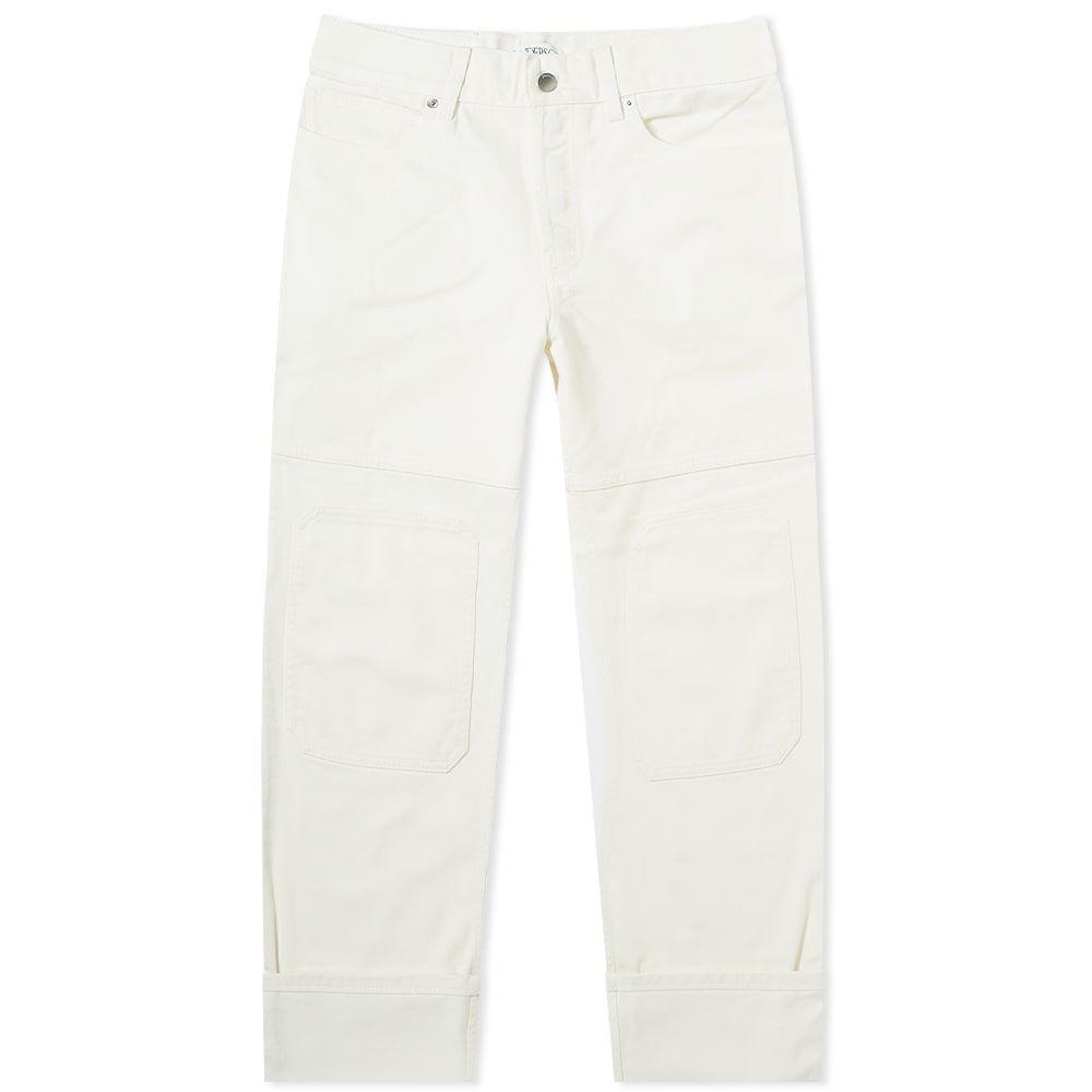 J.W.アンダーソン JW Anderson メンズ ジーンズ・デニム ボトムス・パンツ【Patched Denim Trouser】Off White