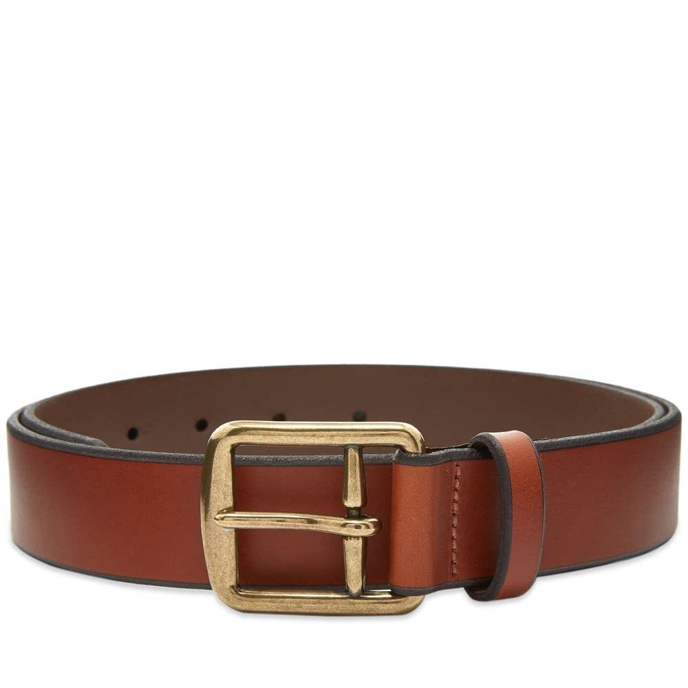 ラルフ ローレン Polo Ralph Lauren メンズ ベルト 【Leather Casual Belt】Brown
