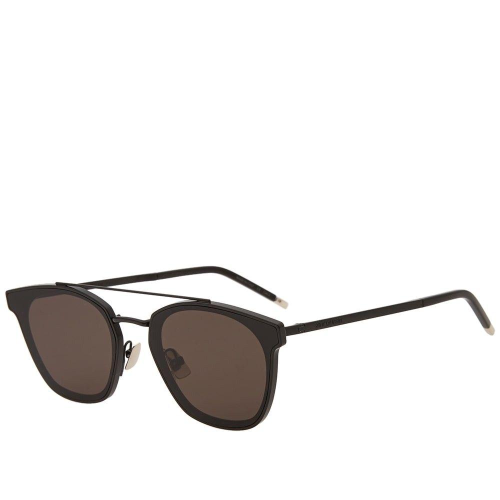 イヴ サンローラン Saint Laurent メンズ メガネ・サングラス 【SL 28 Metal Sunglasses】Black/Grey