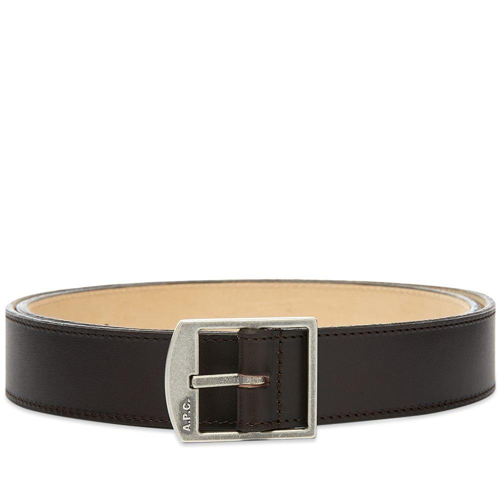 アーペーセー A.P.C. メンズ ベルト 【Cedric Leather Buckle Logo Belt】Brown