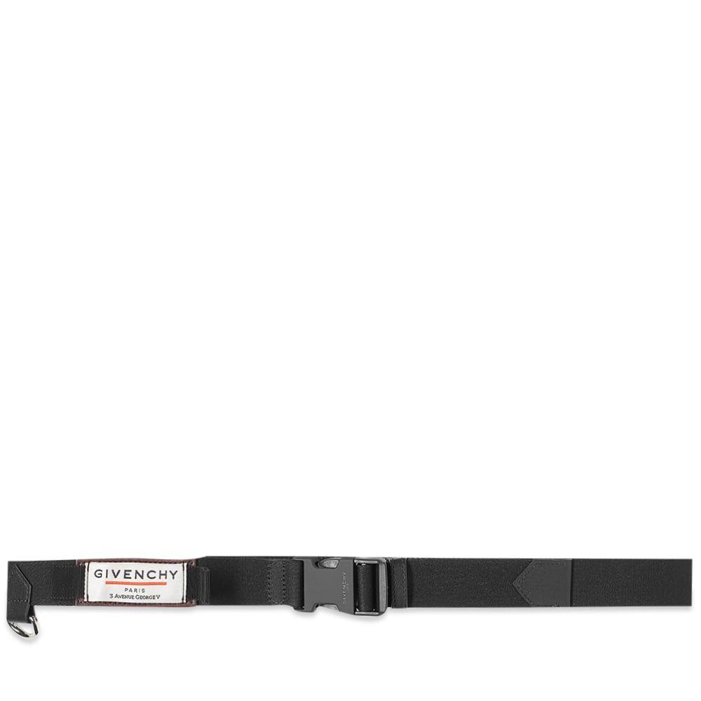 ジバンシー Givenchy メンズ ベルト 【Label Webbing Clip Belt】Black/Aubergine