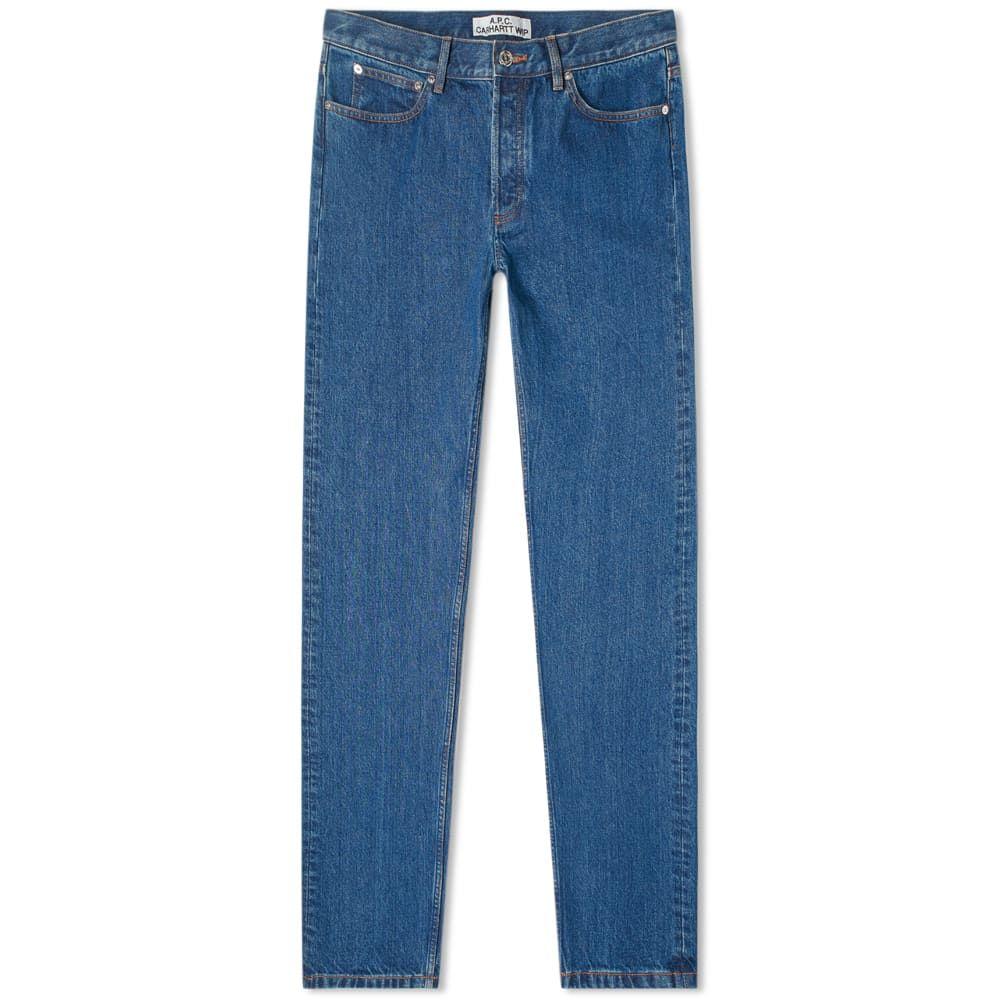 アーペーセー A.P.C. メンズ ジーンズ・デニム ボトムス・パンツ【x Carhartt WIP Petit Standard Jean】Washed Indigo Delave